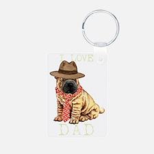 sharpei dadT Keychains