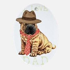 sharpei dadT Oval Ornament