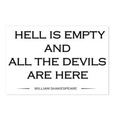 Hell is empty Postcards (Package of 8)