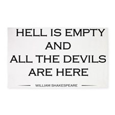 Hell is empty 3'x5' Area Rug