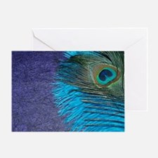 Purple and Teal Peacock Greeting Card