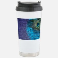 Purple and Teal Peacock Stainless Steel Travel Mug