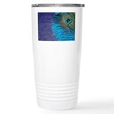 Purple and Teal Peacock Travel Mug