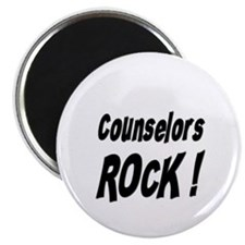 """Counselors Rock ! 2.25"""" Magnet (100 pack)"""