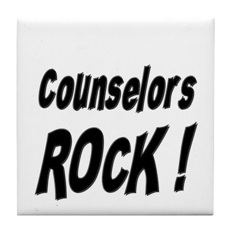 Counselors Rock ! Tile Coaster