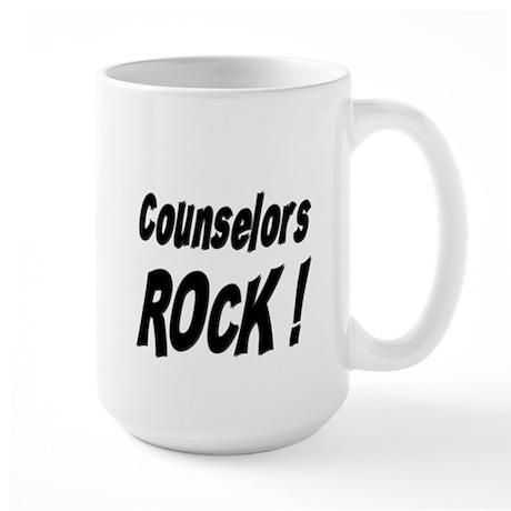 Counselors Rock ! Large Mug