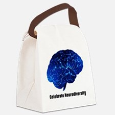 celebrate neurodiversity blue whi Canvas Lunch Bag