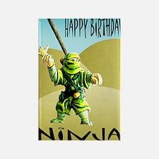 Ninja Happy Birthday Rectangle Magnet