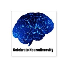 "celebrate neurodiversity bl Square Sticker 3"" x 3"""