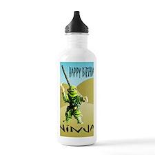 Ninja Happy Birthday Water Bottle