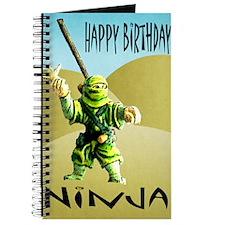 Ninja Happy Birthday Journal