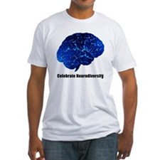 celebrate neurodiversity blue white Shirt