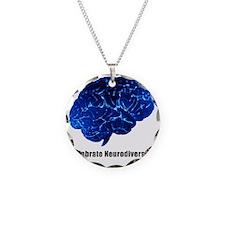 celebrate neurodiversity blu Necklace