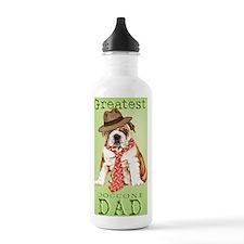 bulldog dad-journal Water Bottle
