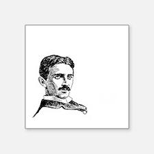 "The Future is Teslas Square Sticker 3"" x 3"""