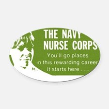 Navy Nurse 1969 Oval Car Magnet