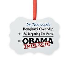 Benghazi Cover Up Impeach Obama Ornament