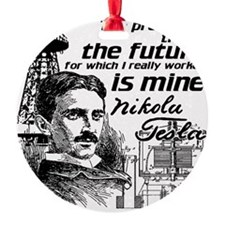 The Future Is Teslas Ornament