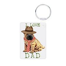 sharpei dad Keychains
