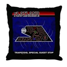 Flatland The Film - Trapezoid Throw Pillow