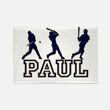 Baseball Paul Personalized Rectangle Magnet