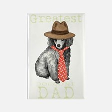 poodle dad1T Rectangle Magnet
