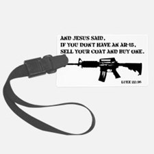 Jesus AR-15 Luggage Tag