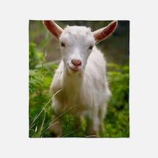 Baby goat Throw Blanket