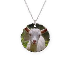 Baby goat Necklace Circle Charm