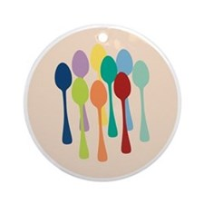spoons-sp13 Round Ornament
