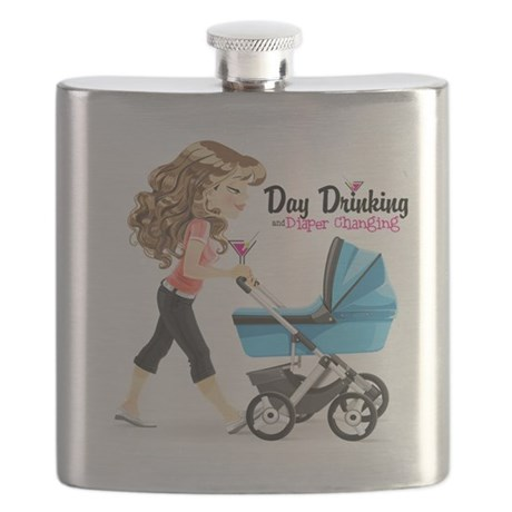 Day Drinking and Diaper Changing Flask