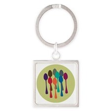 spoons-fl13 Square Keychain