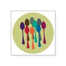 "spoons-fl13 Square Sticker 3"" x 3"""