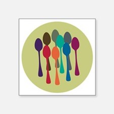 "spoons-fl13 Square Sticker 3"" x 3"""