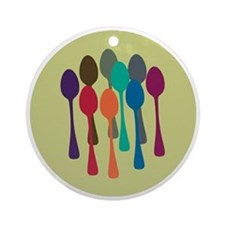 spoons-fl13 Round Ornament