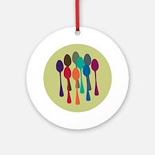 spoons-fl13 Round Ornament