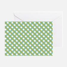 Criss Cross Lime Greeting Card