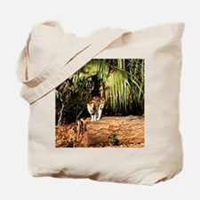 Cat on Trunk Tote Bag