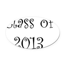Class of 2013 Oval Car Magnet
