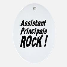 Assistant Principals Rock ! Oval Ornament