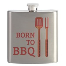 Born To BBQ Flask