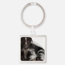 skunk / mouffette Square Keychain