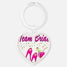 TEAM BRIDE Heart Keychain