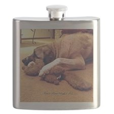 Dog with toy 1 Flask