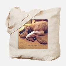 Dog with toy 1 Tote Bag