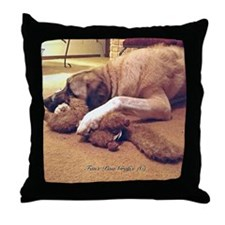 Dog with toy 1 Throw Pillow