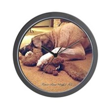 Dog with toy 1 Wall Clock