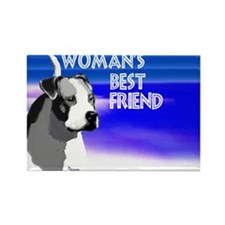 Cute American pit bull terrier Rectangle Magnet