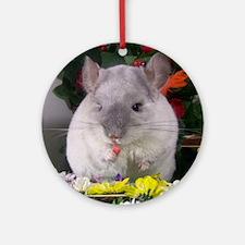 chinchilla Round Ornament