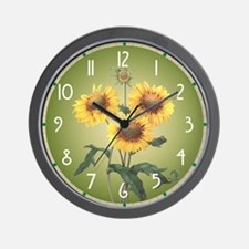 Redoute Sunflowers Wall Clock